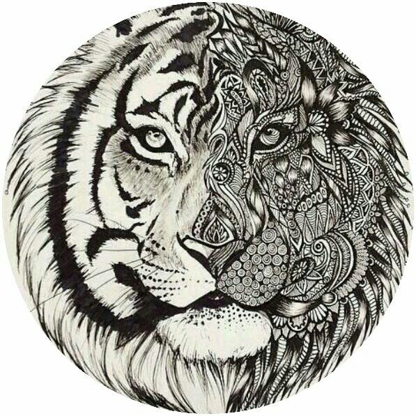 Adult tiger coloring page colorings pages Pinterest