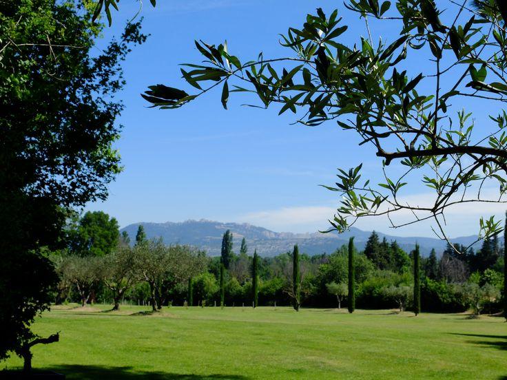 Au coeur de la Provence, le Mas des Songes offre une vue imprenable sur le Mont Ventoux. Vous aurez la possibilité de vous balader dans les cinq hectares de la propriété.