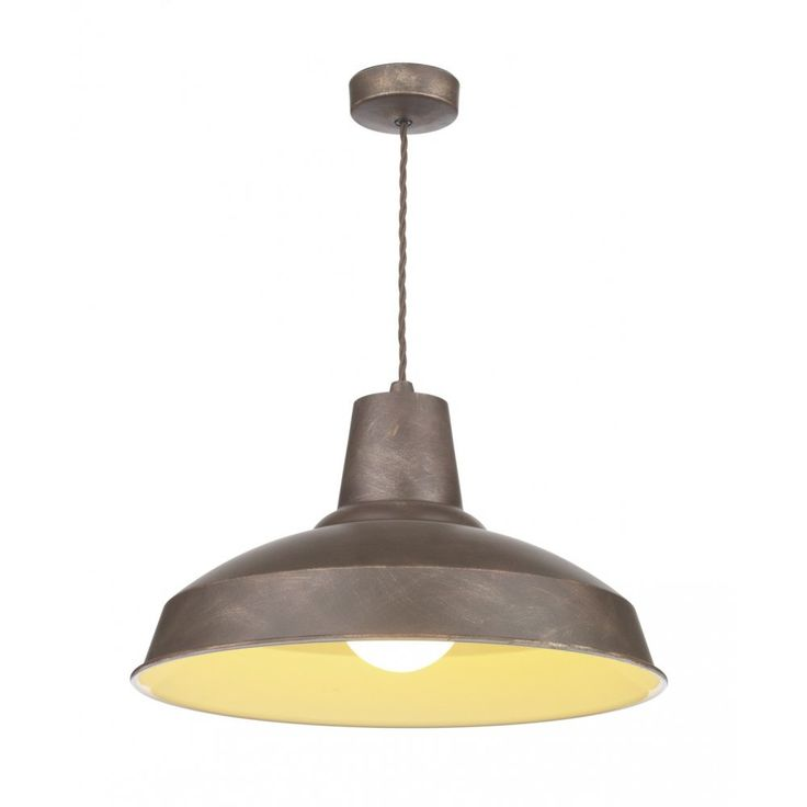 David Hunt Lighting REC0163 Reclamation Industrial Pendant Light in Weathered Bronze