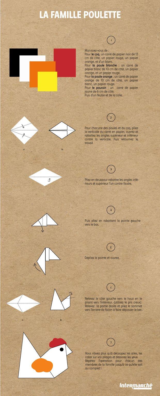 Tuto Origami pour la Famille Poulette de Pâques