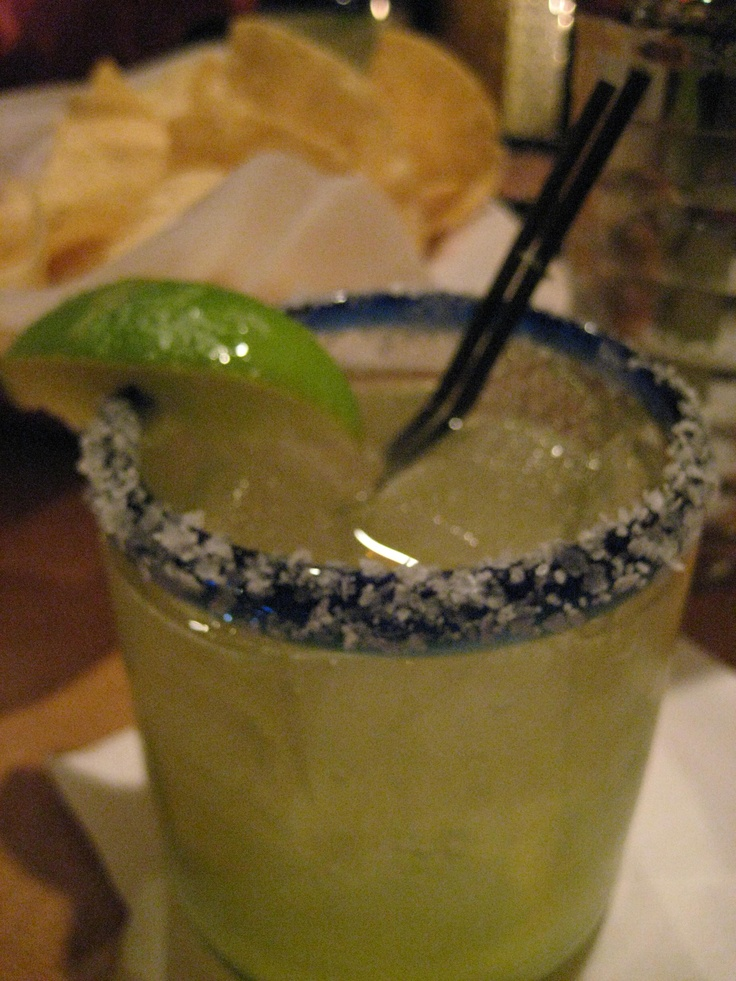 A salty margarita.  Yum!