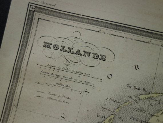 HOLLAND Antique map of Holland 1878 original by DecorativePrints