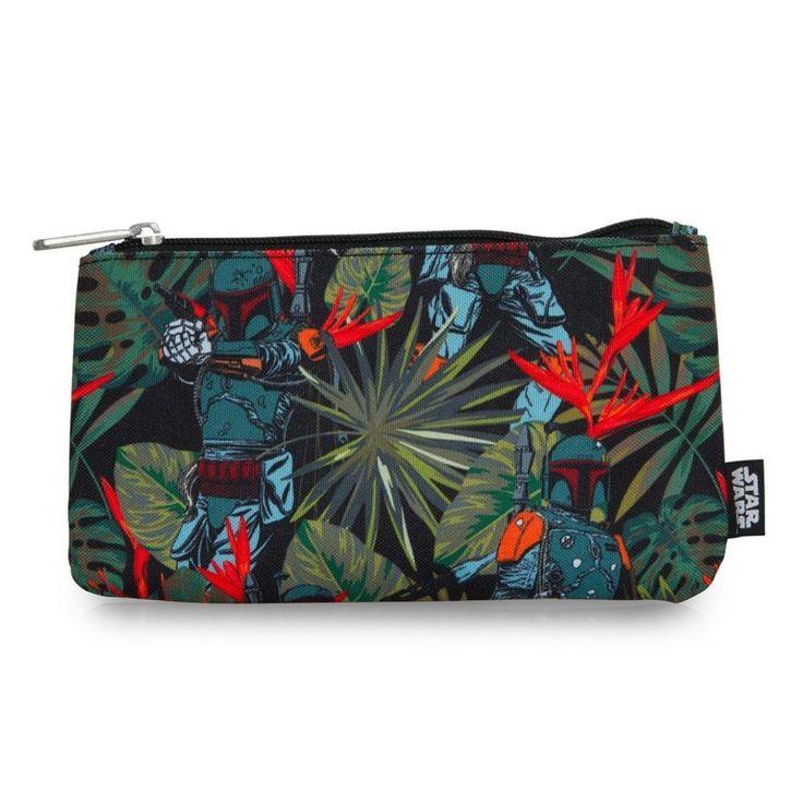 Loungefly x Star Wars Boba Fett Bright Leaves coin purse cosmetic bag ⭐️ Star Wars fashion ⭐️ Geek Fashion ⭐️ Star Wars Style ⭐️ Geek Chic ⭐️