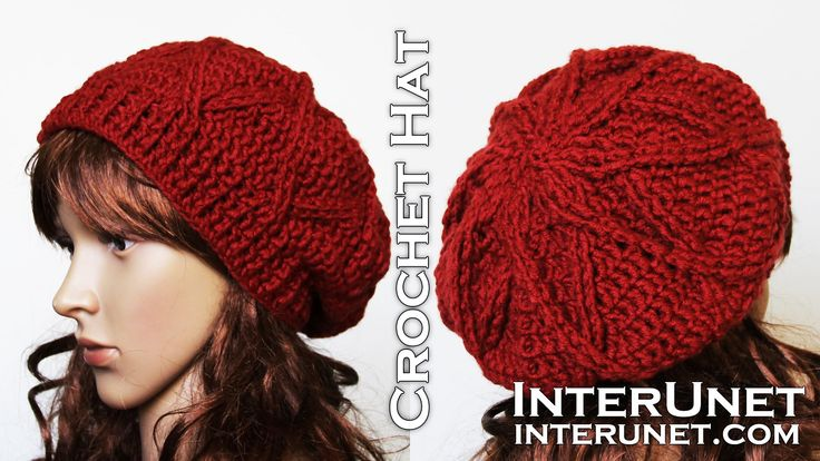 Learn to crochet a hat following step-by-step crochet video tutorial. For more details and written instructions visit: http://interunet.com/how-to-crochet-a-...