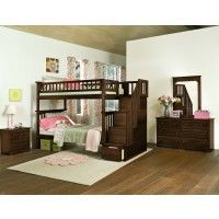 Columbia Twin over Twin Staircase Bunk Bed