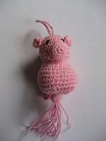Gehaakt gelukspoppetje, varken Haken, crochet