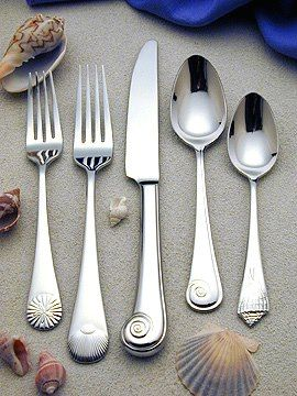 Coastal seashell flatware, as featured in Coastal Living Magazine: http://www.oceanofferings.com/seashellsstainless.html