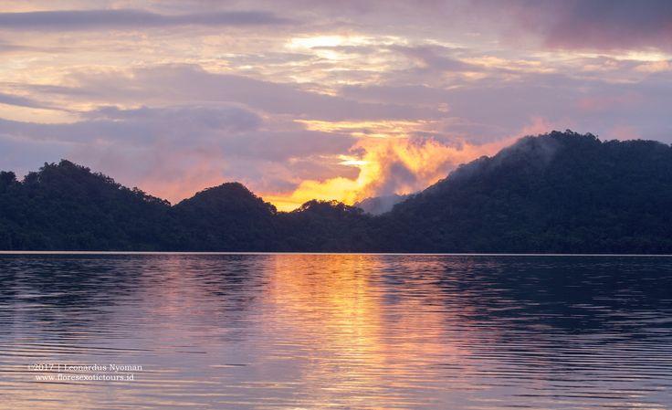 Sunset from Sano Nggoang Lake