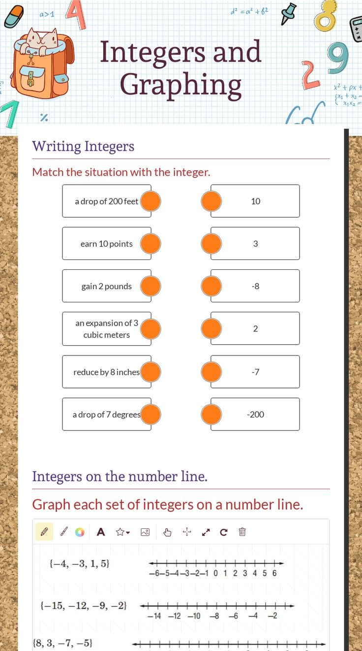 Integers and Graphing Worksheet in 2020 Free math