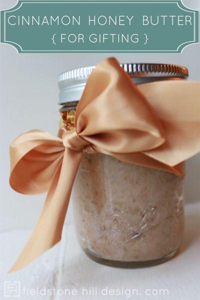 cinnamon honey butter for gifting {by Fieldstone Hill Design dot com}