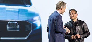 Nvidia chipset - Das Unternehmen NVIDIA und Audi AG führen ihre langjährige Partnerschaft weiter fort und möchten bis 2020 das fortschrittlichste KI-Fahrzeug der Welt einführen. The company NVIDIA and Audi AG continue their long-term partnership and want to introduce the most advanced AI vehicle in the world by 2020.
