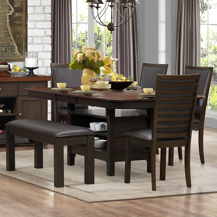 Corliss Dining Table Chair Set With Bench By Homelegance At Northeast Factory Direct
