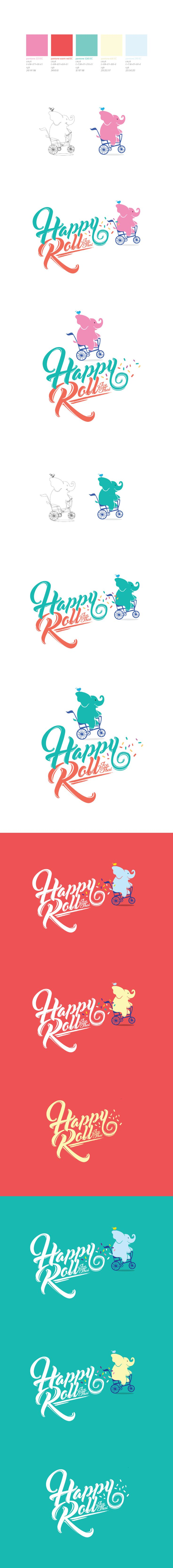 Happy Roll™ // Thailand Roll Ice Cream on Behance