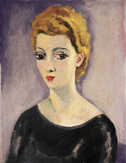 Kees van Dongen - La blonde au corsage noir