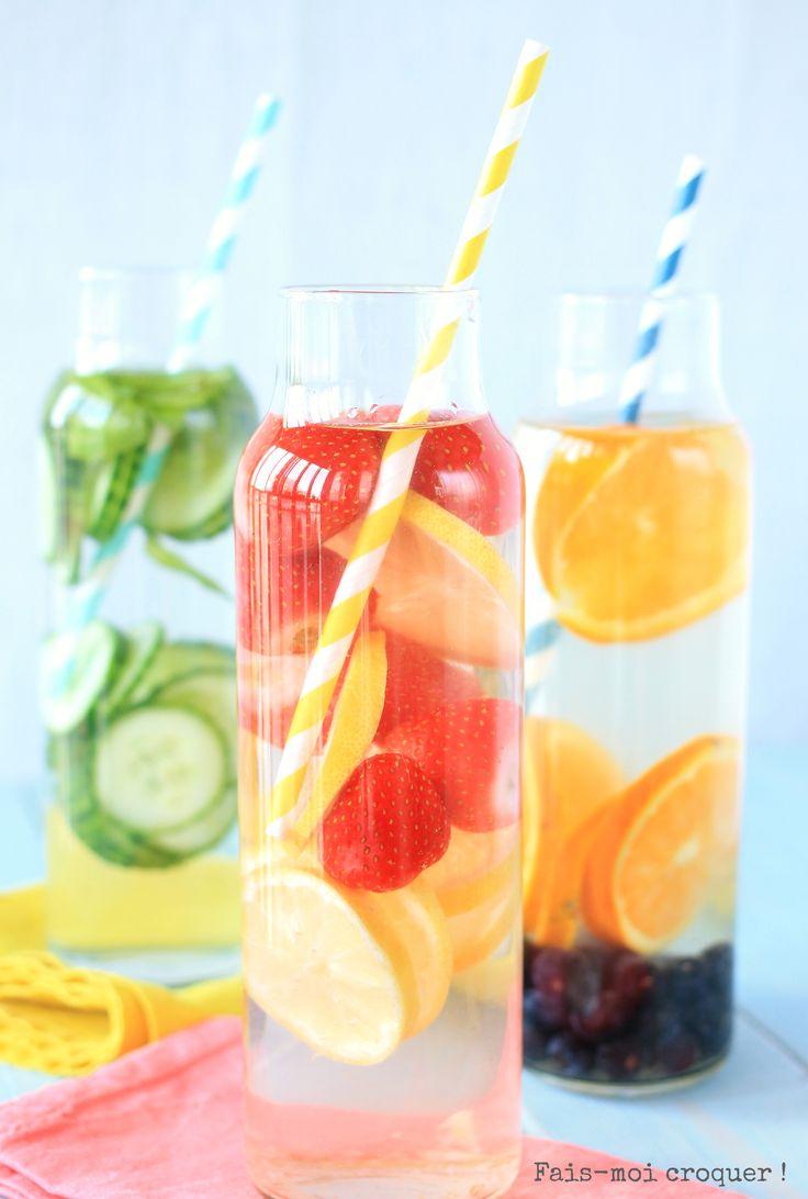 Detox Water : Fraise/Citron ou Concombre/Menthe ou Orange/Myrtilles