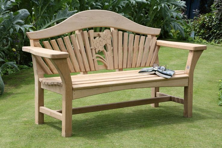 Oak Centenary Bench with Carved Daffodil Detail.....