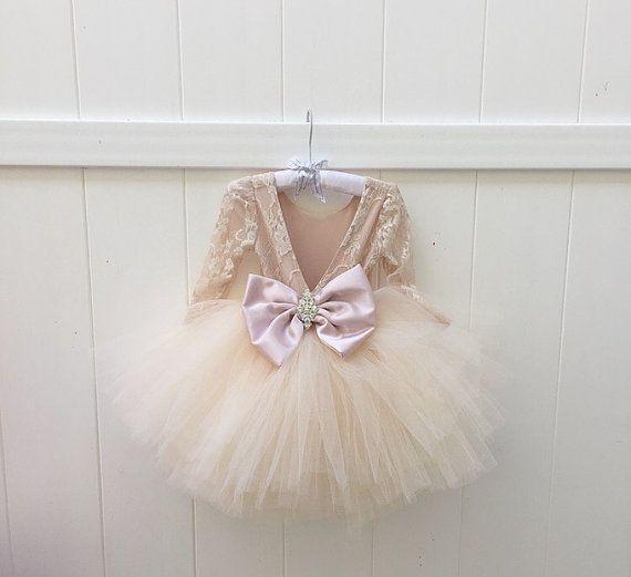 LILIANA-vestido - Florista - encaje - vestido encaje - gran lazo vestido - Tutu vestido - vestido de cristal - Vestido de novia por Isabel costura