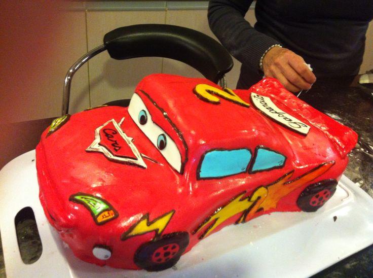 Torta cumpleaños cars! Home made