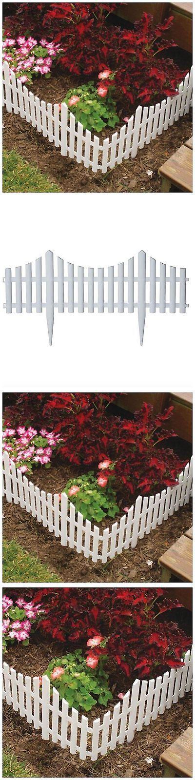 Fence Panels 139946: Plastic Garden Fence Border Decor Panels 18 Pack Fencing Landscape Picket Edging -> BUY IT NOW ONLY: $67.82 on eBay!