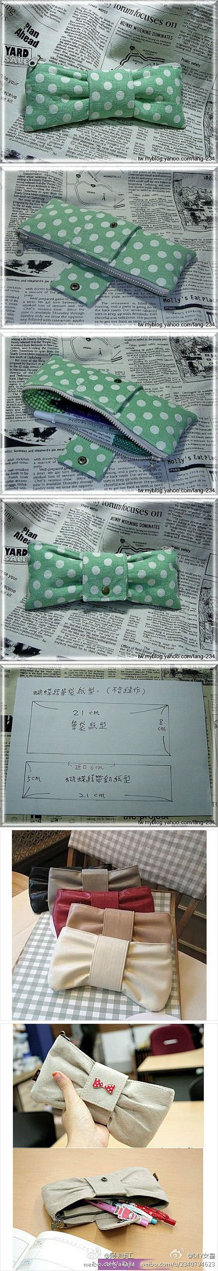 The instructions aren't in English, but I love the design of this classy pencil case!