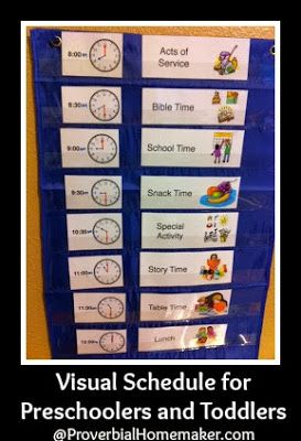 Visual Schedule for Preschoolers and Toddlers (Free Printable) by ProverbialHomemaker.com