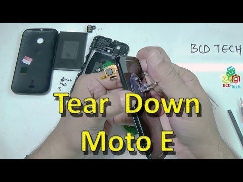 Moto E: Tear down, Assembly, Dis-assembly and Parts View - YouTube