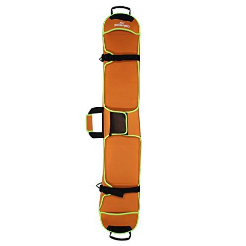 Generic Ski Board Sleeve Bag Snow Board Snowboard Store Transport Carry Case Travel Luggage  4 Colors Availale  Orange 145cm -- Continue to the product at the image link.