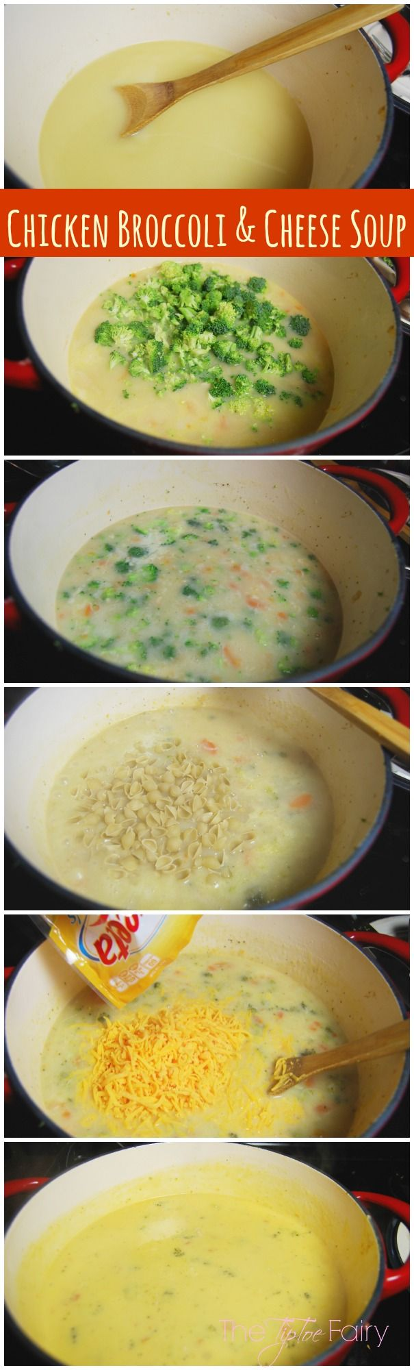 Chicken Broccoli Cheese Soup -might omit the chicken lol