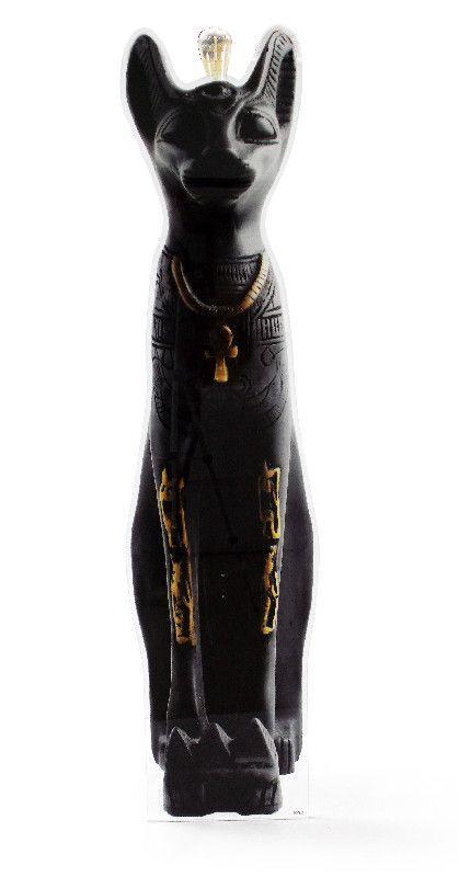 Lampe verre acrylique Chat égyptien noir - Acrila