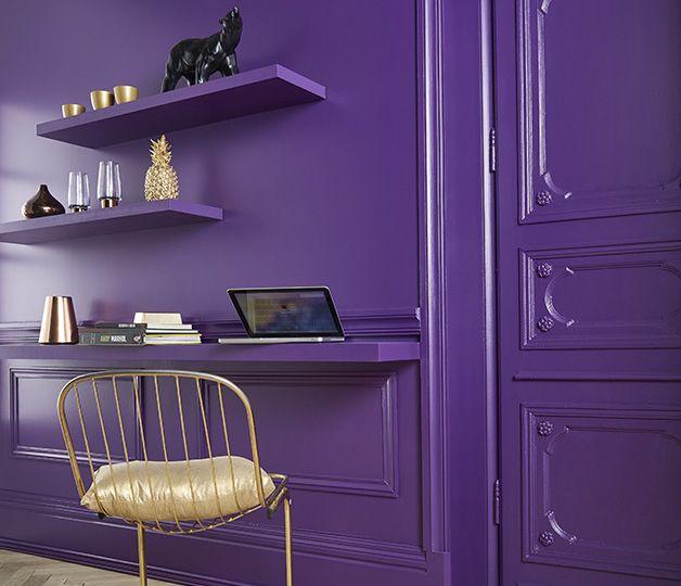 Les 25 meilleures id es de la cat gorie chambres violet for Mettre en peinture un mur