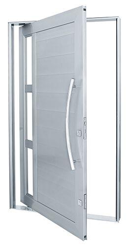 porta de entrada aluminio branco c vidro - Pesquisa Google