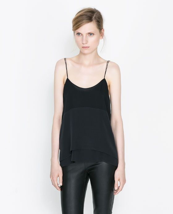 The clothing. -----Image 1 of COMBINATION SILK CAMISOLE from Zara
