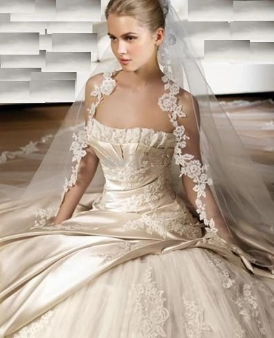 I love this dress and veil!
