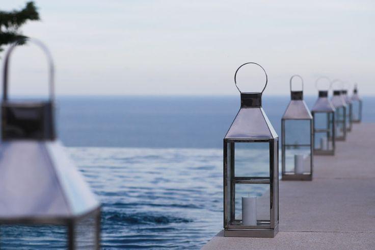 Lanterns adorning Pool Terrace