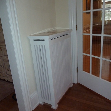 For a fraction of the cost of custom-created radiator covers, this homeowner designed and built these himself using popular with granite top inserts. A gap at the top allows natural convection to occur. 2013 TOH Dont Buy It, DIY It! Contest | thisoldhouse.com/yourTOH