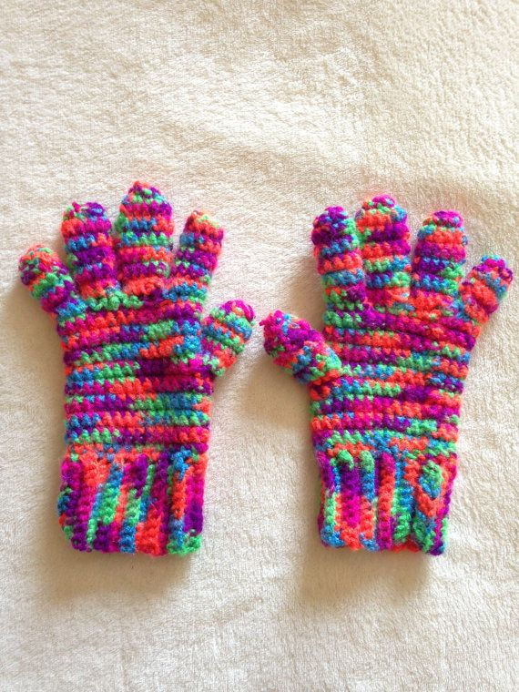 Crochet Patterns Multicolor Yarn : 1000+ images about Crochet Gloves on Pinterest ...