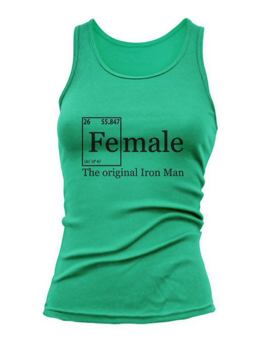 FEMALE IRON Elements Tank Top Training Workout by JustScott, $14.99 For the nerd in us :)