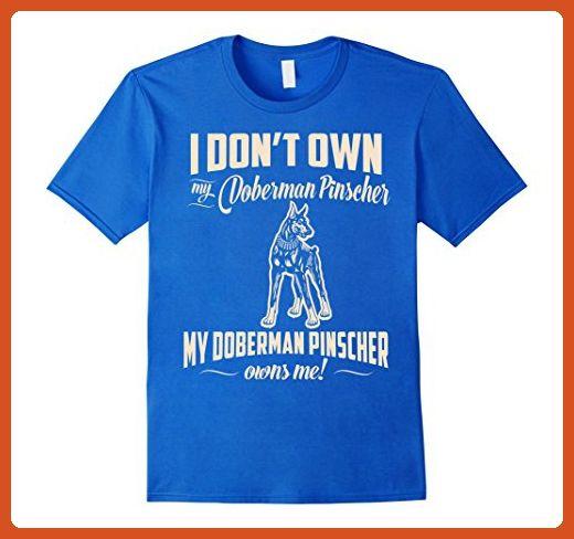 Mens My Doberman Pinscher Owns Me T-Shirt For Dog Lover Medium Royal Blue - Animal shirts (*Partner-Link)