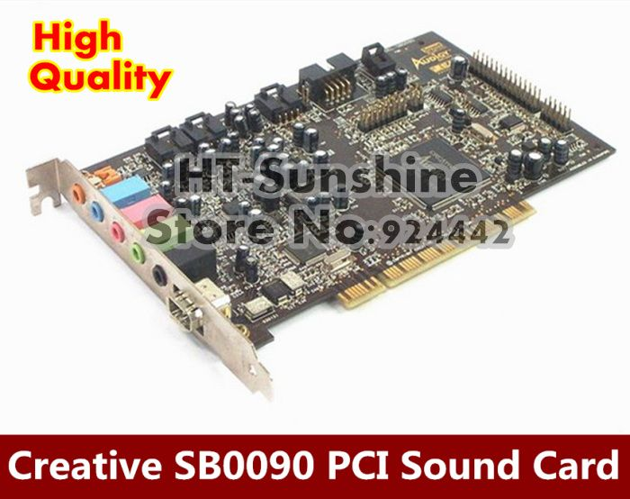 1PCS/LOT  For Creative Sound Blaster Audigy SB0090 PCI 5.1 Sound Card