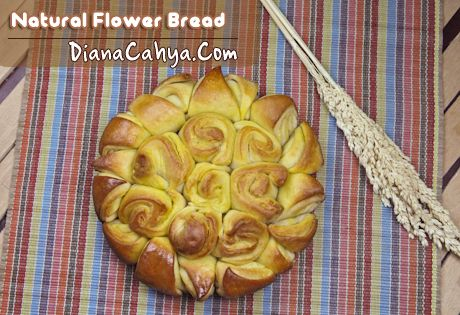 Natural Flower Bread | DianaCahya.Com