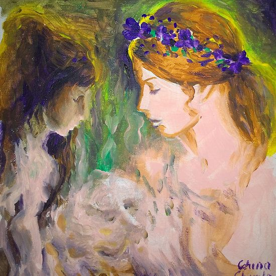 Memories of the girl with vilet tiara