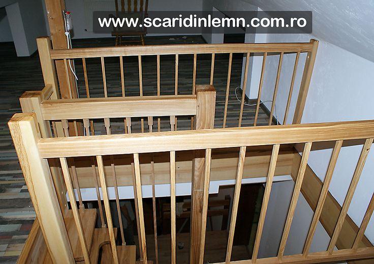scara interioara economica din lemn masiv preturi scara cu vang si trepte cu pas combinat