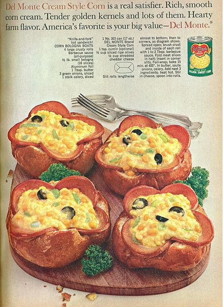 Corn Bologna Boots | 10 Regrettable Retro Food Recipes