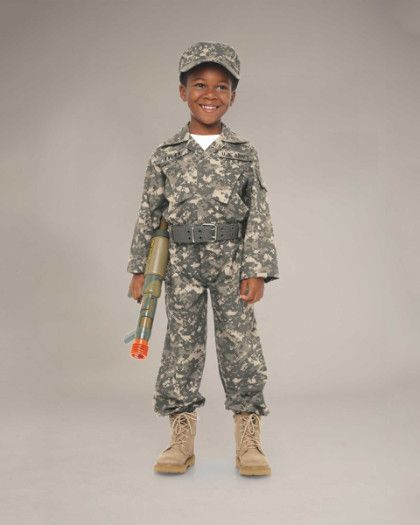 Personalized Desert Army Soldier Costume for Kids