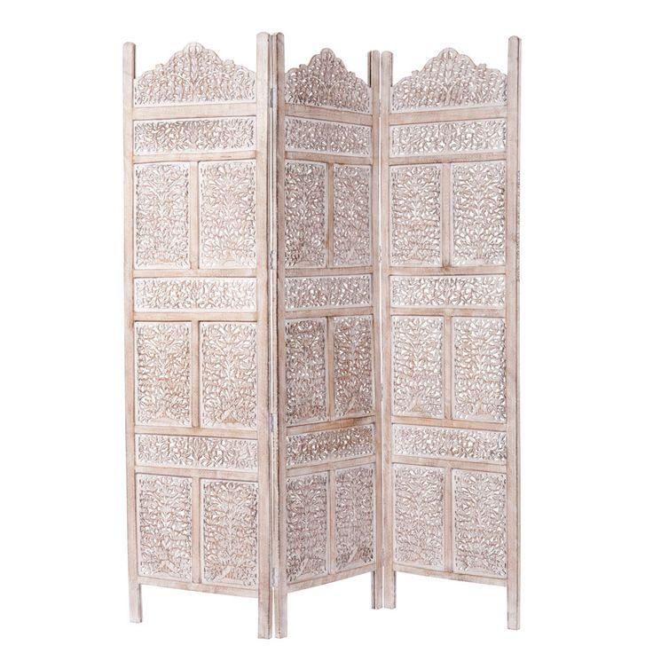 Raumteiler UDAIPUR aus Mangoholz, B 150 cm, geweißt Jetzt bestellen unter: https://moebel.ladendirekt.de/wohnzimmer/regale/raumteiler/?uid=336257db-6bc3-510e-a2de-4d4b2f033358&utm_source=pinterest&utm_medium=pin&utm_campaign=boards #wohnzimmer #raumteiler #regale
