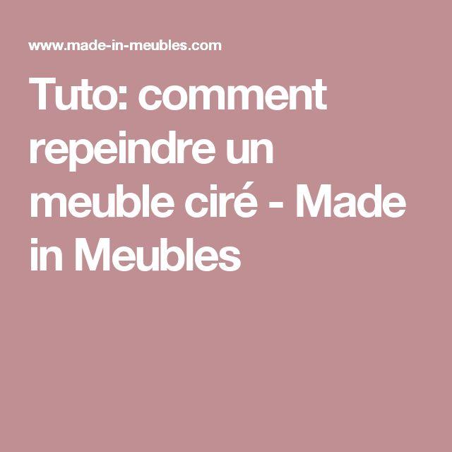Tuto: comment repeindre un meuble ciré - Made in Meubles