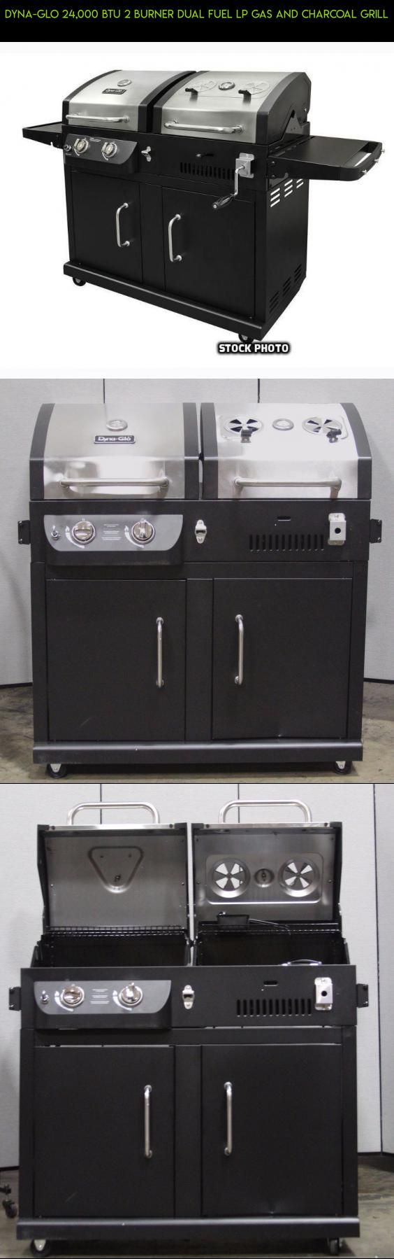 Dyna-Glo 24,000 BTU 2 Burner Dual Fuel LP Gas And Charcoal Grill #tech #kit #camera #shopping #and #fpv #gas #plans #technology #charcoal #drone #grills #racing #parts #products #gadgets
