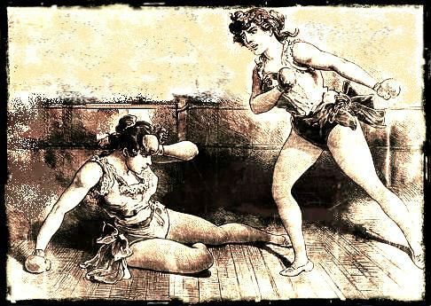 Surprisingly enough, there are a few women pugilists out there, and they can handle themselves well! Maybe I should go recruiting.