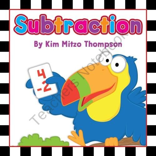 Subtraction Workbook & Music Album Download from Kim Mitzo Thompson on TeachersNotebook.com (61 pages)  - Subtraction workbook made just for your students! This activity workbook includes 63 printable pages of subtraction practice for the classroom or at home!