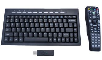 Mini Meida Combo Keyboard Set is a nice combo set of mini keyboard with remote control, it comboing with Mini keyboard and a MCE Remote controller together, mini keyboard for easy hand held use, and the remote control which buit-in Optical Trackball & mouse buttons for convenient use.  Read more - http://www.ergonomicsmadeeasy.com/store/mini-keyboards/product/mini-meida-combo-keyboard/